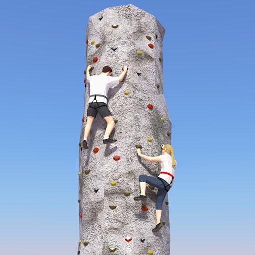 Rock Climbing Wall 3D Model - FormFonts 3D Models & Textures