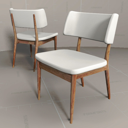 Nissa dining chair d model formfonts models textures