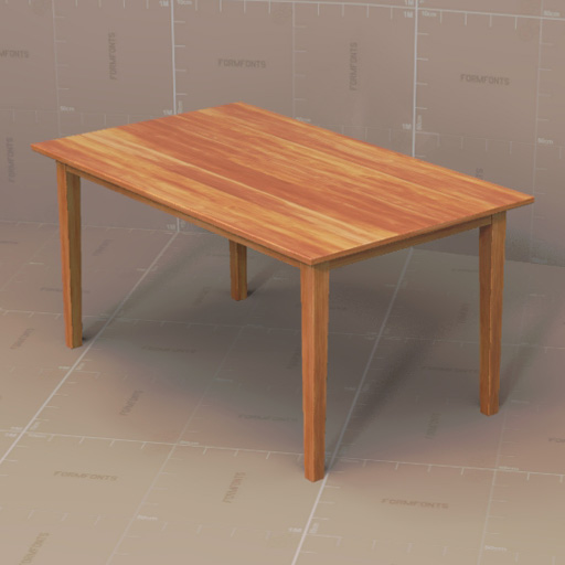 Generic Dining Tables 3d Model Formfonts 3d Models