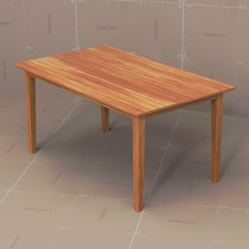 Generic Dining Tables 3D Model FormFonts 3D Models  : this set contains two generic dining tables andFFModelID159921GenDTable1001 from www.formfonts.com size 512 x 512 jpeg 58kB