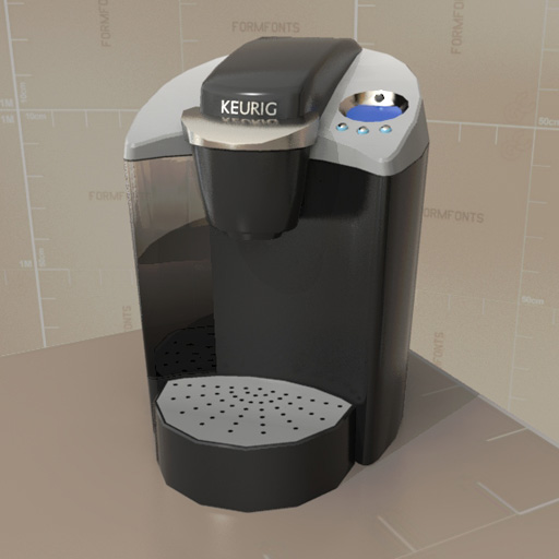 Keurig coffee brewer 3d model formfonts 3d models textures for Apartment size coffee maker