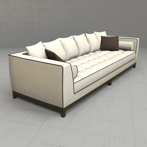Lutetia Sofa Set 3d Model Formfonts 3d Models Textures