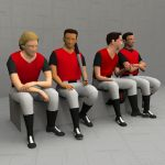 Sitting Baseball Players 20 -
