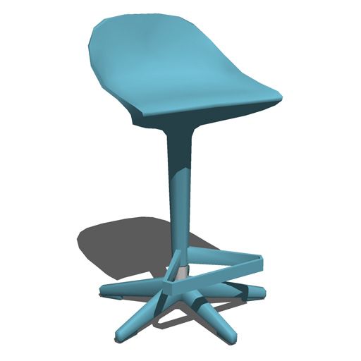 Kartell Spoon Stool 3D Model - FormFonts 3D Models & Textures