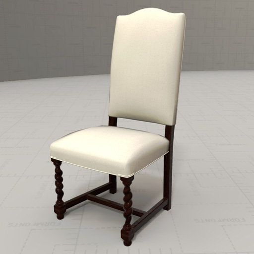 Peachy French Dining Chair 3D Model Formfonts 3D Models Textures Pabps2019 Chair Design Images Pabps2019Com
