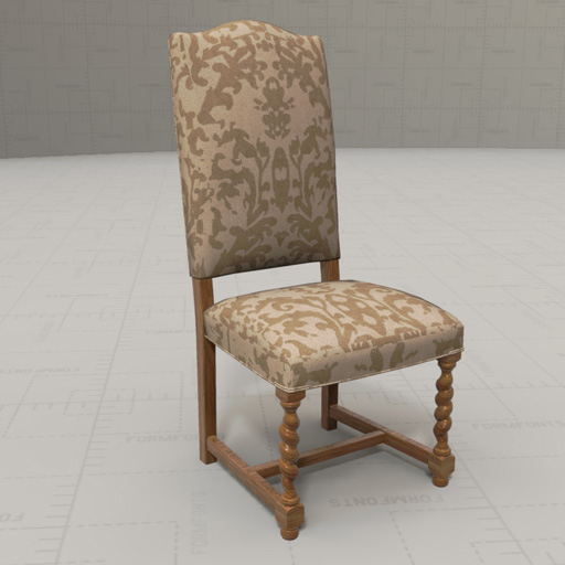 Set of Two French Dining Chairs 