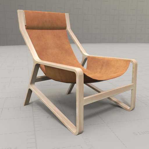 Toro Lounge Chair 3D Model FormFonts 3D Models & Textures