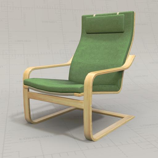 Ikea Poang Chairs 3d Model Formfonts 3d Models Textures