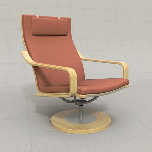 Ikea poang chairs 3d model formfonts 3d models textures - Chairs similar to poang ...