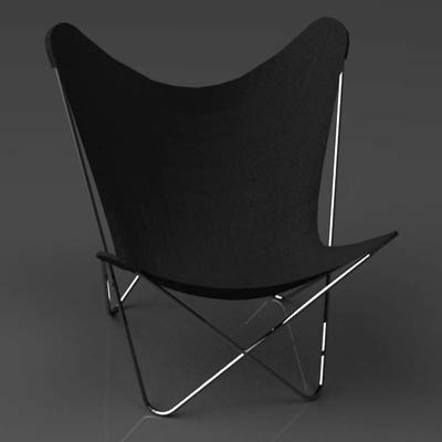 Bkf Butterfly Chair 3d Model Formfonts 3d Models Amp Textures