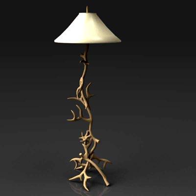 Antler Lamp 3D Model - FormFonts 3D Models & Textures