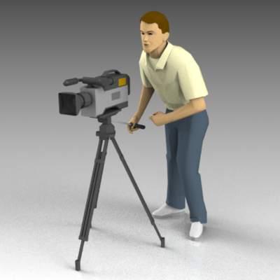 Cameraman 3d Model Formfonts 3d Models Amp Textures