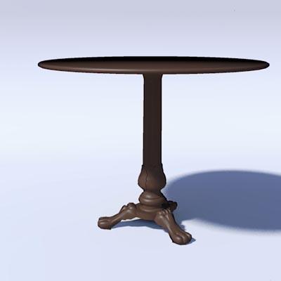 Acanthus cafe table 3d model formfonts 3d models textures for Table design 3d model