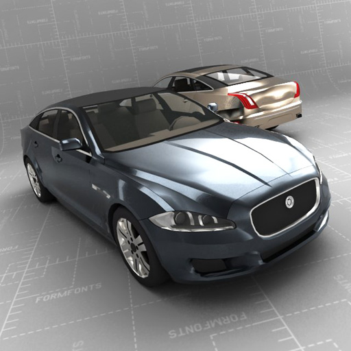 2010 Jaguar Coupe: FormFonts 3D Models & Textures
