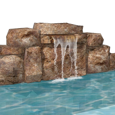 Waterfalls 1 3D Model - FormFonts 3D Models & Textures