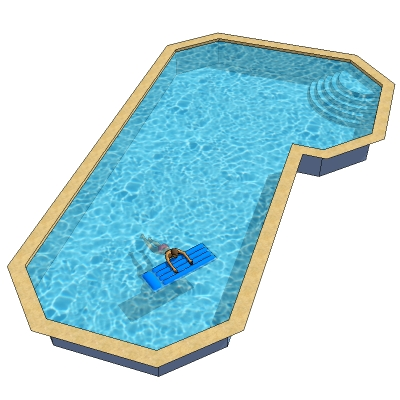 Grecian true l 3d model formfonts 3d models textures for Grecian pool shape