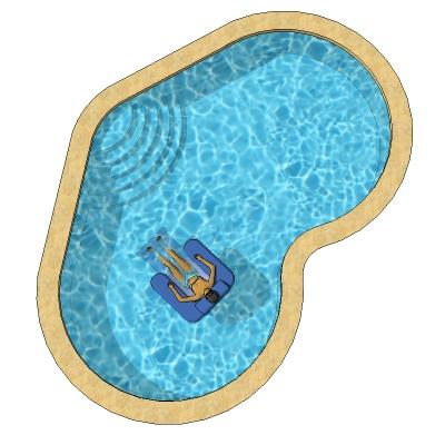 Heart Shaped Pools 3D Model