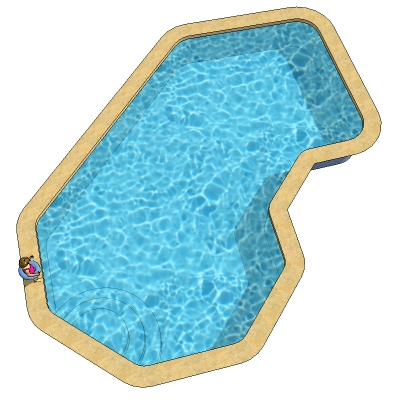 Modern outdoor patio furniture - Description Tech C Shaped Pools 16 X 30 And 18 X 35ft Removable