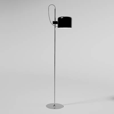 The Oluce Coupe light in both floor and table/desk....