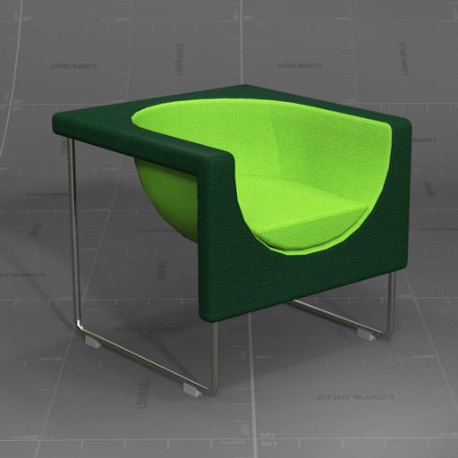 Nube Armchair Set 3D Model - FormFonts 3D Models & Textures