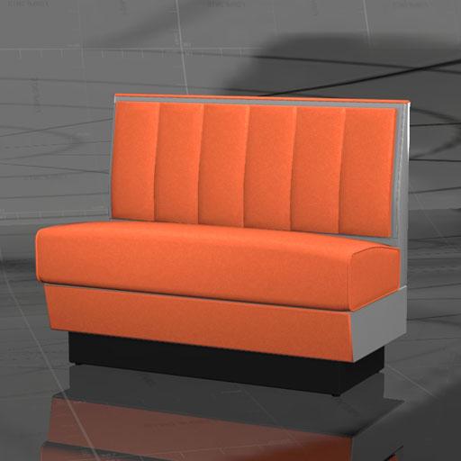 Single Diner Booth 3d Model Formfonts 3d Models Amp Textures