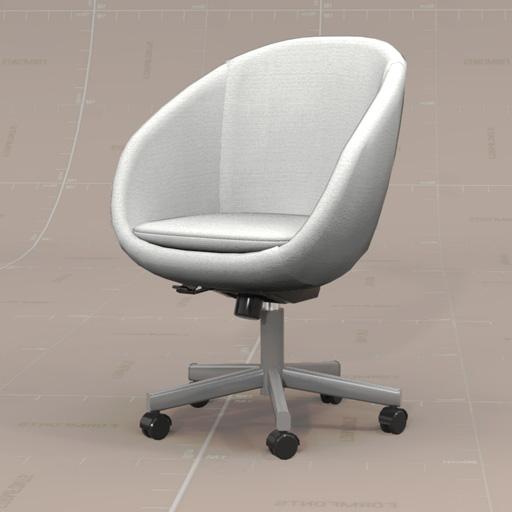 Skruvsta swivel chair 3d model formfonts 3d models - Silla huevo ikea ...