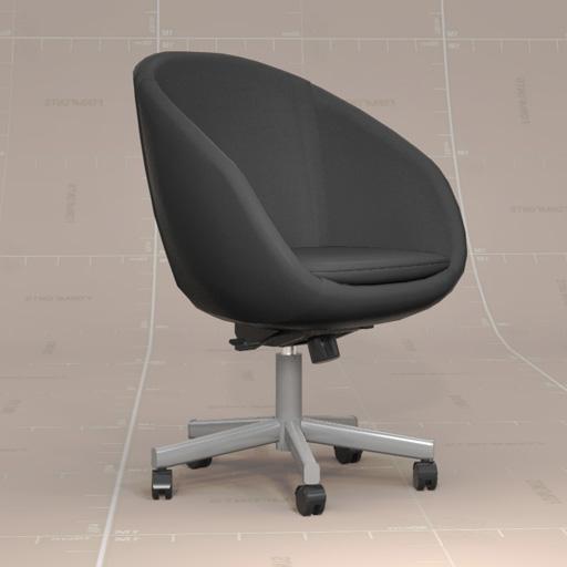 Charmant SKRUVSTA Swivel Chair 3D Model