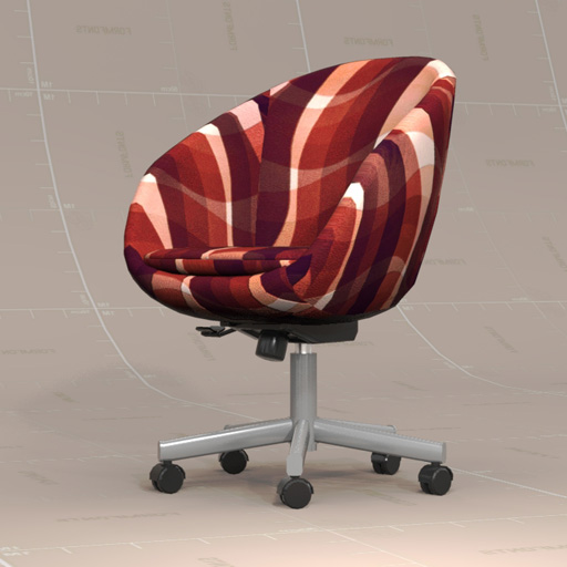 SKRUVSTA Swivel Chair 3D Model