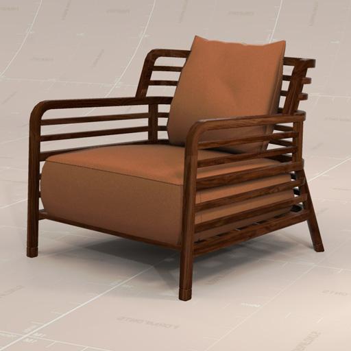 ligne roset flax chair 3d model formfonts 3d models. Black Bedroom Furniture Sets. Home Design Ideas