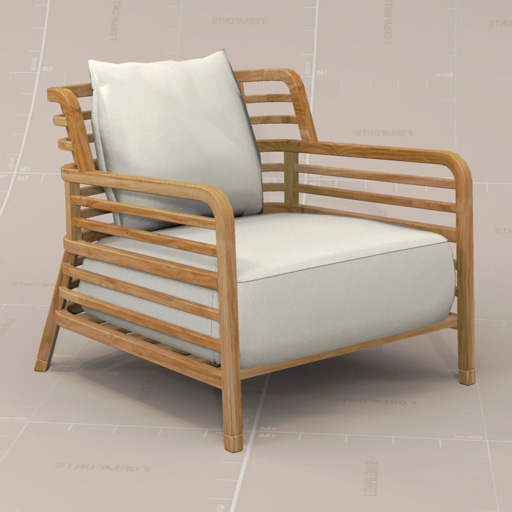 ligne roset flax chair 3d model formfonts 3d models. Black Bedroom Furniture Sets. Home Design Ideas