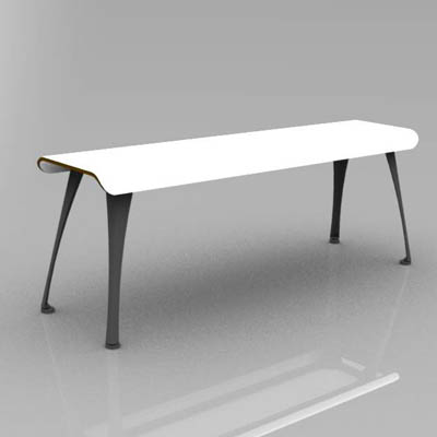Barcelona Curve bench in 3 lengths... to match sim....