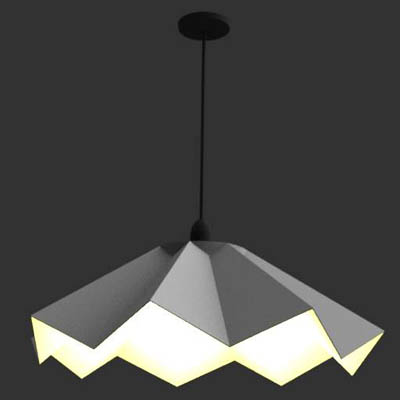 Sebastian Jansson folded pendant light. Folded ste....