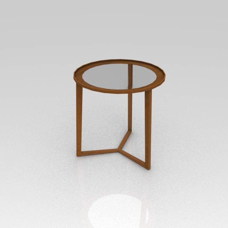 Curio side table in a variety of tops. Diameter 19....