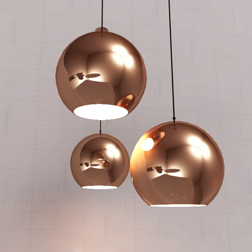 Hanging Ceiling Light 3d Autocad Model: Tom Dixon Cooper Shade 3D Model