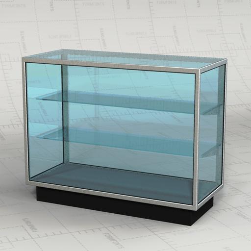 Retail Glass Cabinets 3D Model - FormFonts 3D Models & Textures