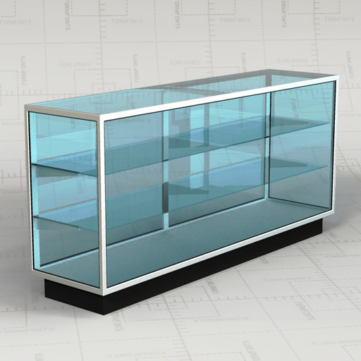 Retail Glass Cabinets 3D Model