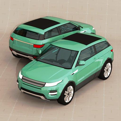 Range Rover Evoque 2 Doors 3D Model
