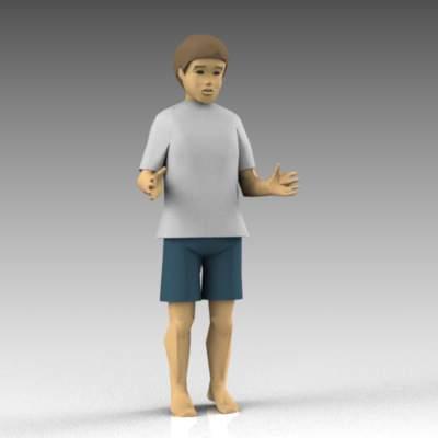 Kid 43 3d Model Formfonts 3d Models Amp Textures