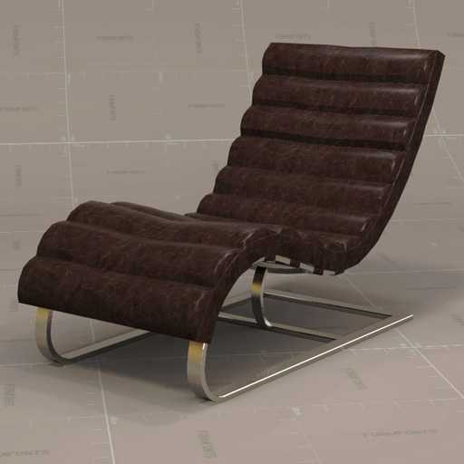 Attractive Oviedo Leather Chair 3D Model