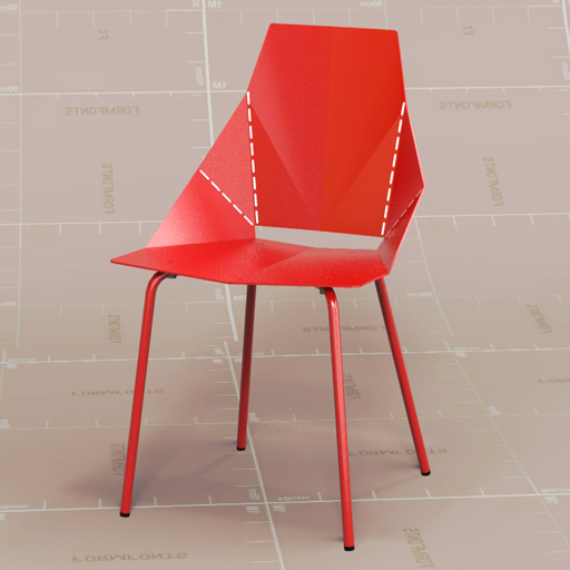 Marvelous BluDot Real Good Chair 3D Model