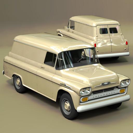 chevrolet van 1958 3d model formfonts 3d models textures. Black Bedroom Furniture Sets. Home Design Ideas
