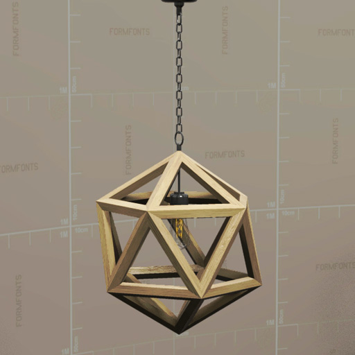 RH Polyhedron Pendant Lamp 3D Model - FormFonts 3D Models