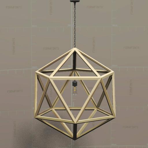Rh polyhedron pendant lamp 3d model formfonts 3d models textures restoration hardware polyhedron pendant lamp aloadofball Image collections
