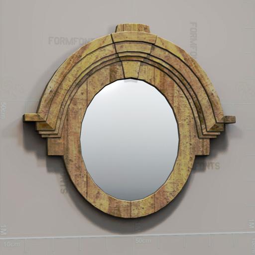 Rh mansard mirror 3d model formfonts 3d models textures for Mirror 3d model