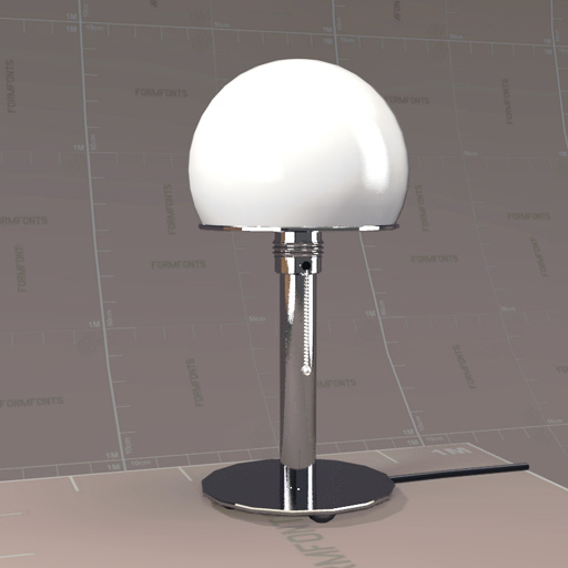 Table Lamp 3d Models Wagenfeld 24 Table Lamp 3d