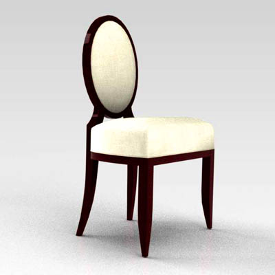 Barbara Barry Oval X Back Side Chair.