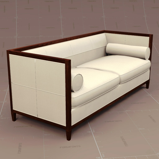 Baker Banded Sofa 3D Model