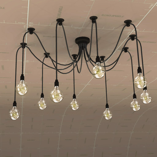 Edison chandelier 3d model formfonts 3d models textures edison chandelier 3d model aloadofball Choice Image