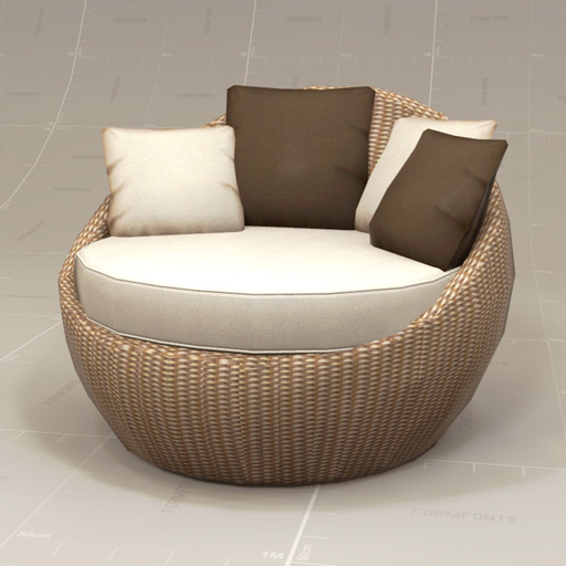 seychelles bubble outdoor chair 3d model