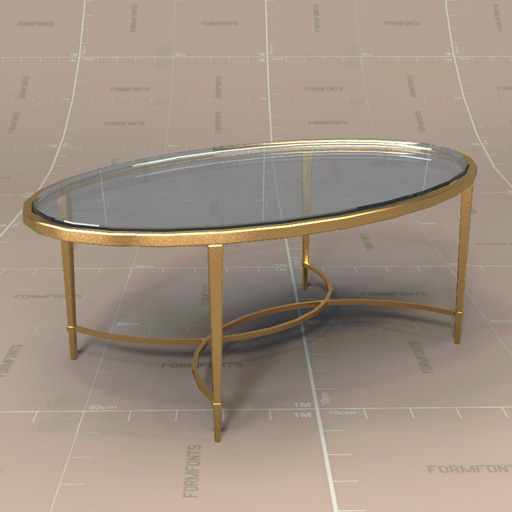 Merveilleux Baker Chloe Coffee Table 3D Model